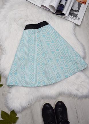 Жакардовая юбка солнце кукольная узором