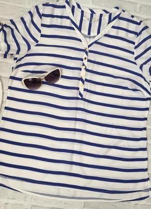 Стильная блуза полоска , р. l - xl