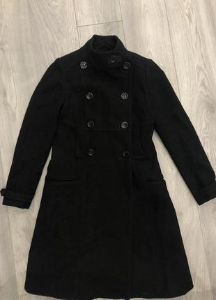 Шерстяное пальто massimo dutti