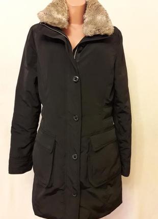 Стильная пуховпя куртка парка фирмы tommy holfiger