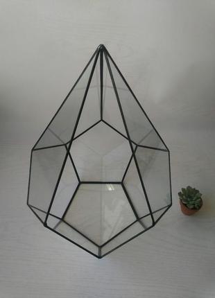Флорариум геометрический додекаэдр каплевидный .