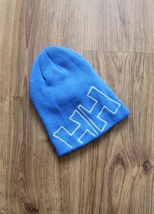 Стильная детская синня унисекс шапка обхват 49/50 см известная марка helly hansen