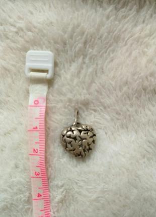 Срібна підвіска-серце