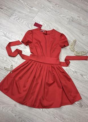 Платье женское. платье пышная юбка. платье юбка-солнце. красное платье