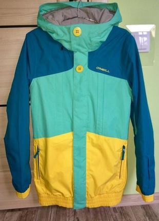 Крутая яркая горнолыжная сноубордическая куртка o'neill