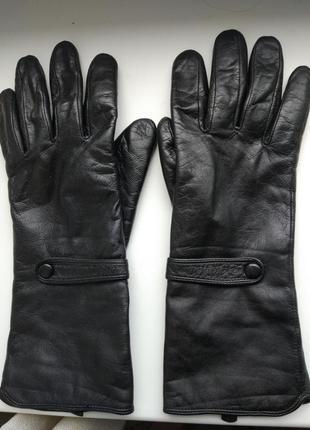 Кожаные перчатки высокие