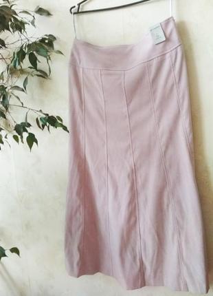 Нежно розовая  длинная юбка мини