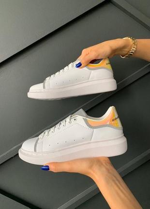 Alexander mcqueen white shoes hologram 🤗 женские кроссовки весна лето осень