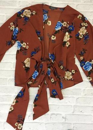 Красивая блуза на запах primark р. м