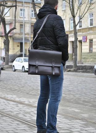 Мужской портфель из натуральной кожи martin 020