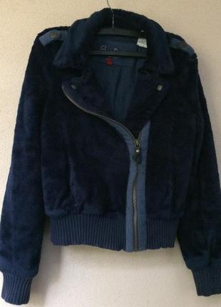 Меховая брендовая куртка- косуха из шерсти