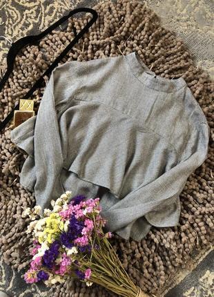 Трендовая блуза, блузка bershka ( вискоза)