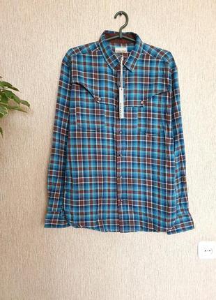 Стильная качественная рубашка от шведского бренда crafted, оригинал