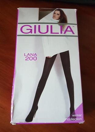 Колготки giulia lana 200 den черный зима теплые