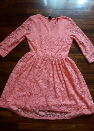 Красивейшее фирменное платье h&m нежно персикового цвета