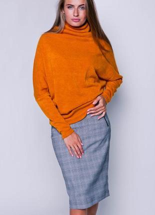 Теплый свитер с горловиной - хомутом grand ua