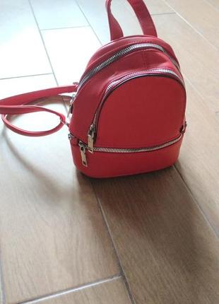 Рюкзак червоний/ красний рюкзак one size1 фото