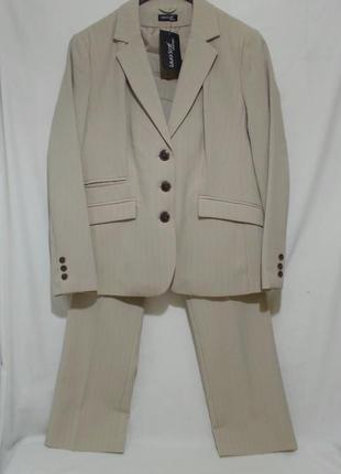 Новый деловой брючный костюм бежевый 'laura scott' 54-56р