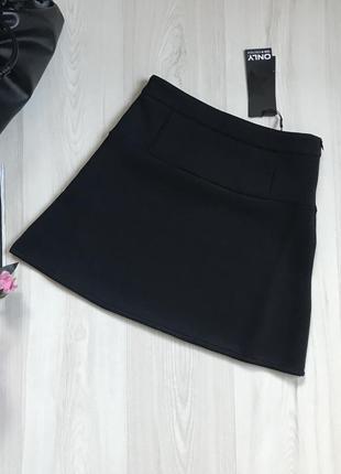 Новая теплая мини юбка only размер м