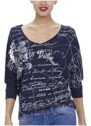 Модный лонгслив  футболка от desigual.оригинал.