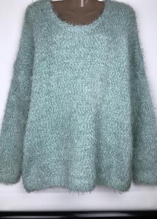 Теплый свитер джемпер травка