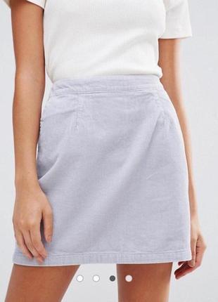 Светлая вельветовая юбка zara zara
