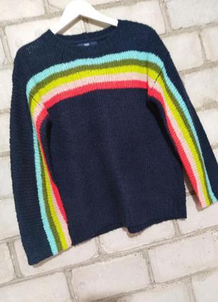 Радужный свитерок свитер джемпер пуловер в составе шерсть