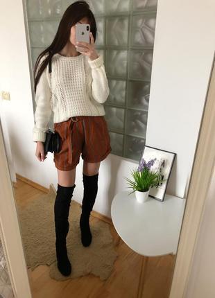 Льняные шорты женские в полоску f&f