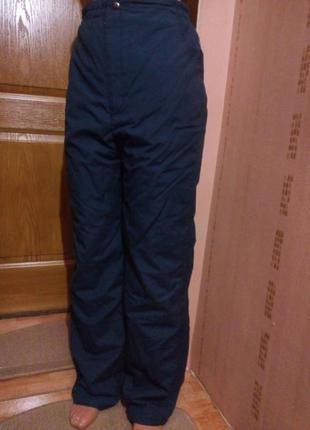 Теплые зимние штаны на синтепоне