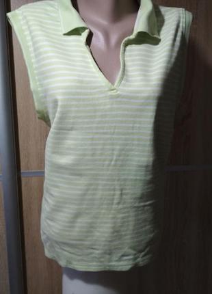 Яркая полосатая футболка большого размера