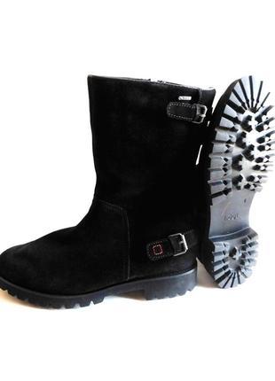 Зимние фирменные полусапожки ботинки gore-tex на толстой подошве от högl