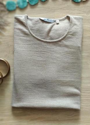 Базовая футболка кофта шерсть