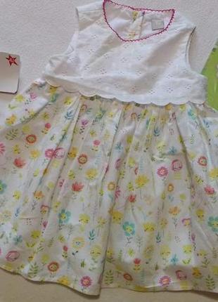 """Симпатичное платье """"tu"""", 6-9 месяцев, 68 - 74 см"""
