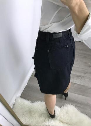 Закрыли магазин! распродажа по смешным ценам! плотная джинсовая юбочка