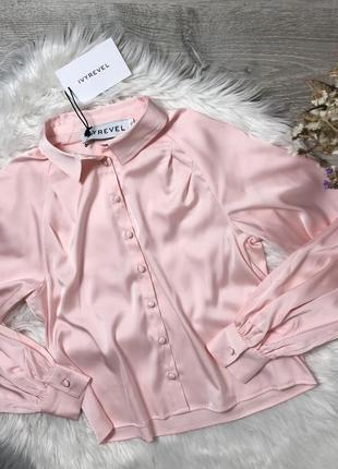 Блуза атласна