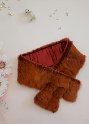 Натуральный меховой шарф