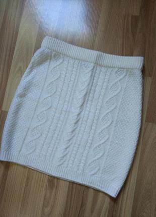 Теплая трикотажная юбка косы от pimkie