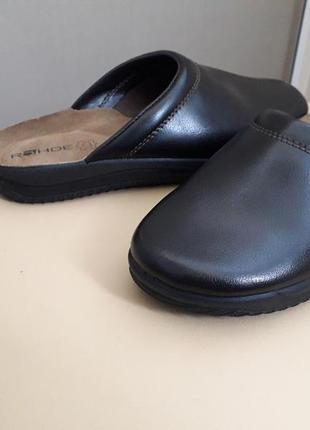 42 rohde размер  новые кожаные мужские шлепанцы тапочки сабо,  германия