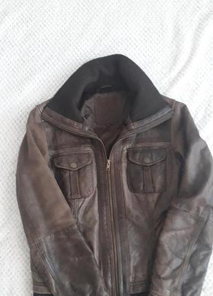 Кожанная куртка осень , весна. распродажа.