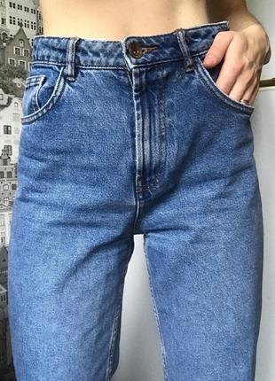 Джинсы мом mom мам бойфренд zara плотный джинс