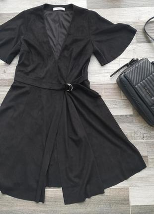 Замшевое платье на запах от mango