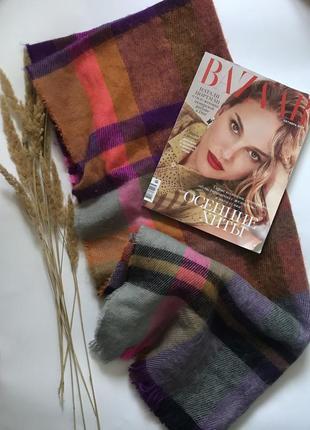 Громадный разноцветный шарф палантин accessorize