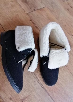 Ботинки дезерты . inblu. фетр