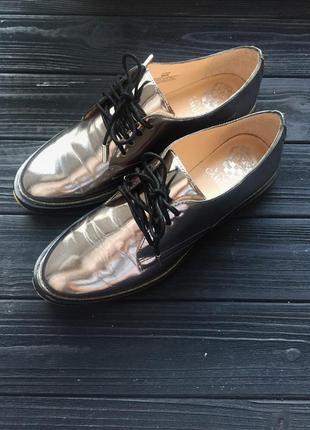 Женские лоферы стального цвета на осень, 36 размер , идеальное состояние, туфли