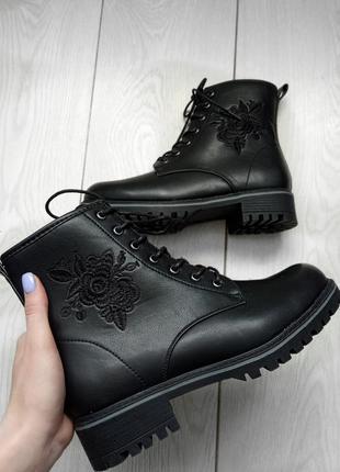Нереальные черные ботинки anna field🖤🔥похожи на dr. martens💋