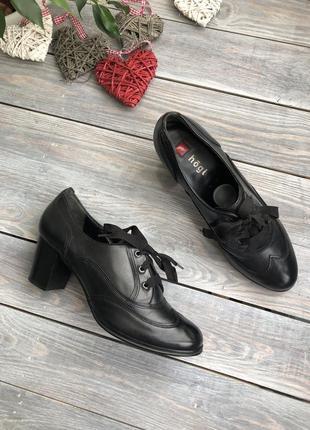 Hogh кожаные туфли на шнуровке и удобном каблуке