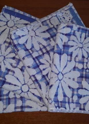 Распродажа! кухонные полотенца лен+махра 27х49 комбинированные, кухонні рушники
