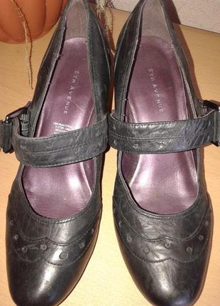 Беговые удобные кожаные туфли 5th avenue