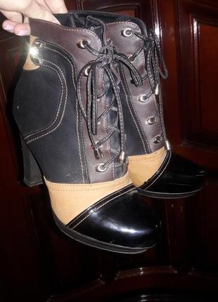 Осенние ботиночки на каблуке