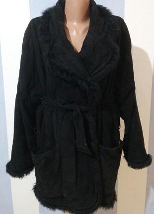 Натуральне замшеве пальто на теплій підкладці gianfranco ferre